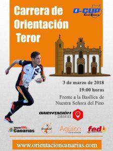 cartel O-Cup Orientacion Canarias - Teror