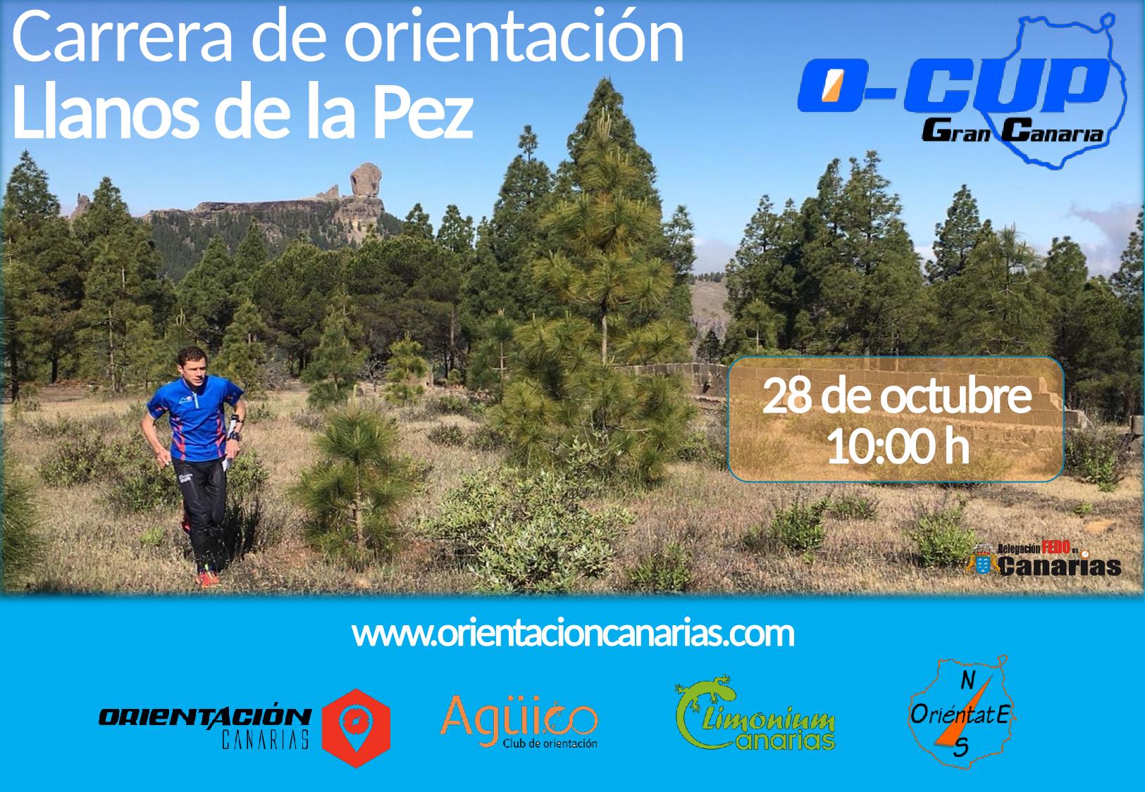 Cartel O-Cup Carreras de Orientación en Gran Canaria